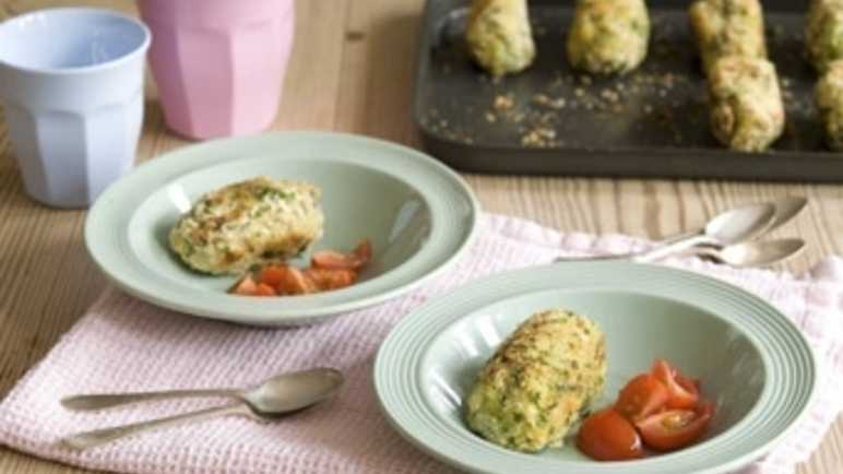 Potato and vegetable croquette image