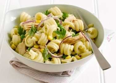 Pasta salad with peas, tuna and sweetcor image