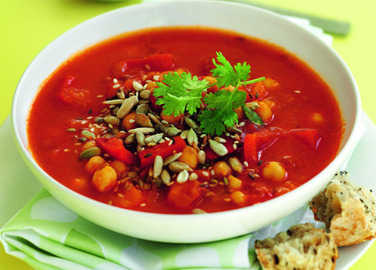 Moroccan chickpea soup image