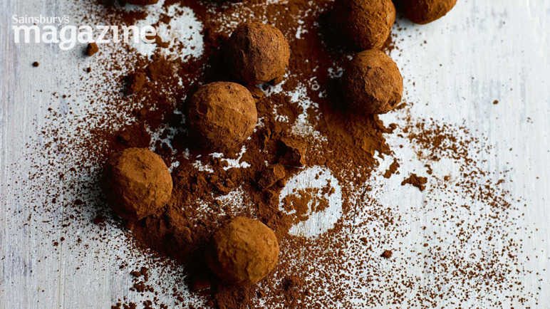 Whisky ginger truffles