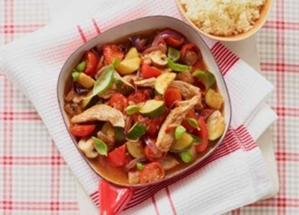 Mediterranean pork and couscou image