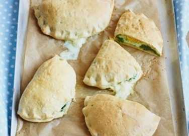 Little spinach and egg calzone image