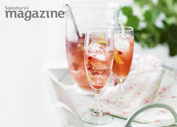 Pink fizz punch