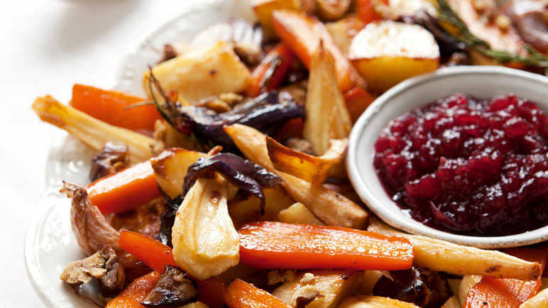 Easy roasted christmas vegetables