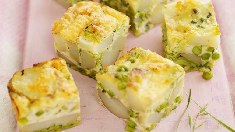 Courgette and cheese frittata image