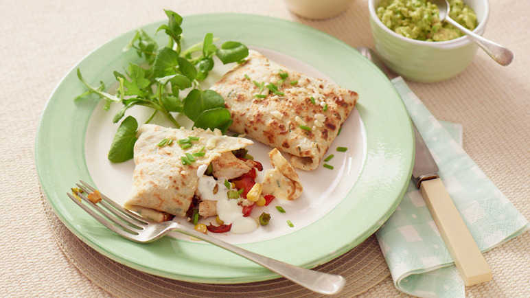 Chicken and sweetcorn savoury parcel image