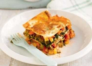Cheat's vegetable lasagne