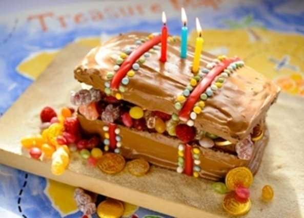 Treasure chest  birthday cak image