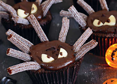 Image: Spooky spider cupcakes