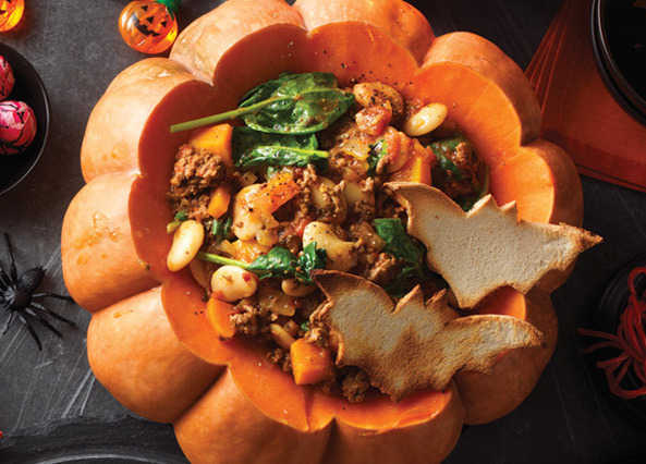 Image: Witches' brew stew in a pumpkin