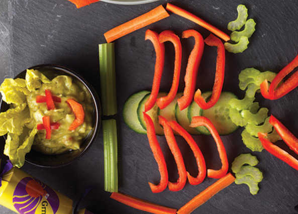 Image: Vegetable skeleton with guaca-mouldy