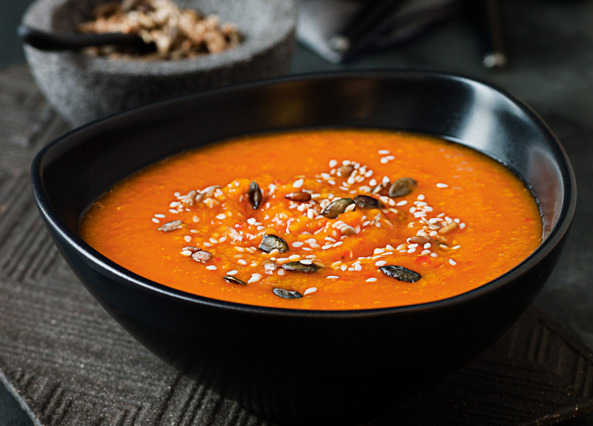 Butternut squash and red pepper soup recipe | Homemade
