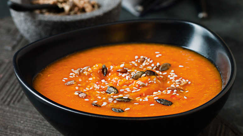 Image: Butternut squash and red pepper soup