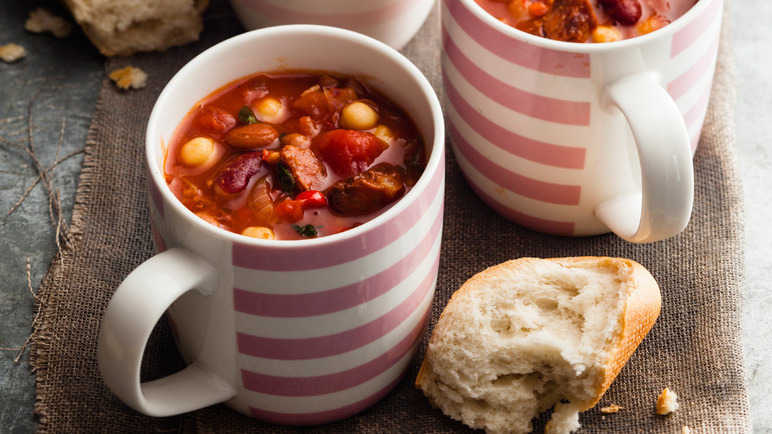 Image: Chunky chorizo and bean stew