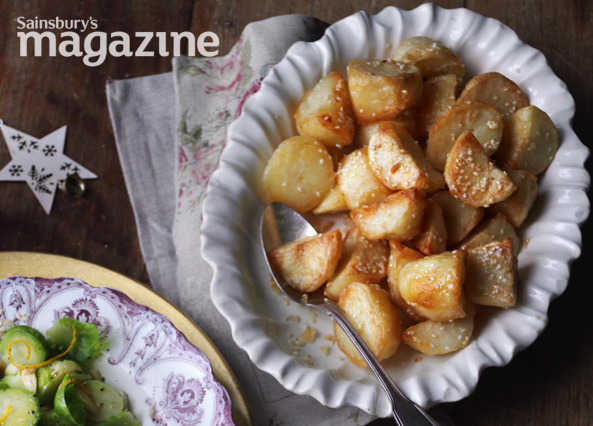 Roast potatoes with sesame seed image