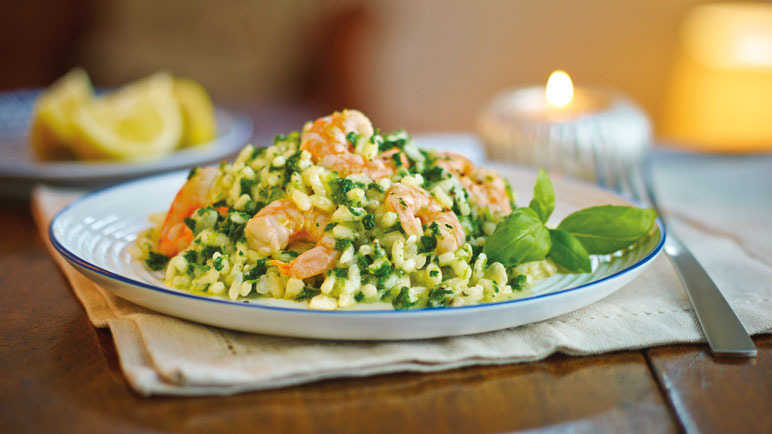 Image: Prawn & spinach risotto