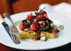 Image: Polenta with roasted tomatoes & mushrooms