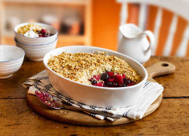 Image: Apple and blueberry crumble