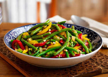 Image: Green beans and mixed peppers with cumin