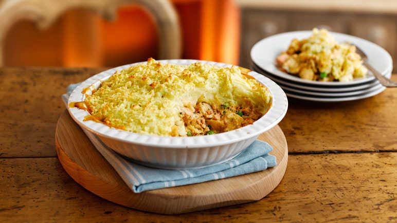 Image: Spicy ginger and chilli fish pie