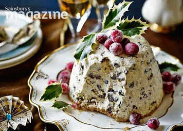 Image: Iced Christmas pudding