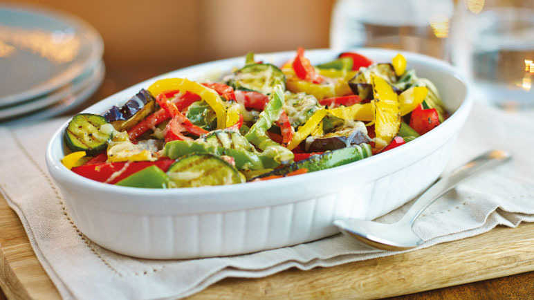 Image: Chargrilled Mediterranean vegetable and pepper platter