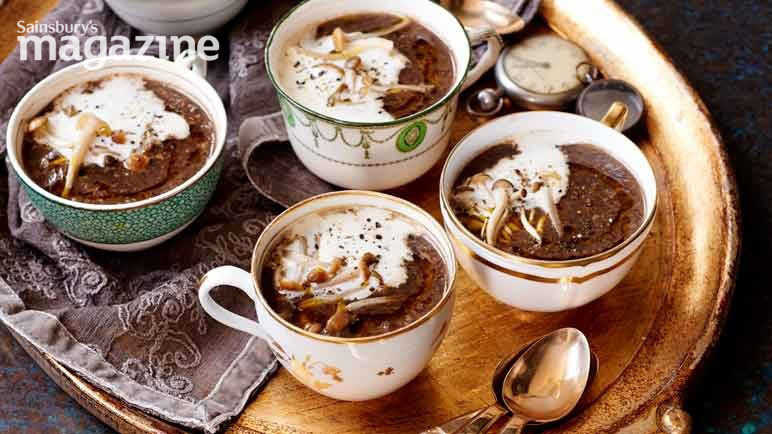 Image: Mushroom and chestnut soup with truffle oil