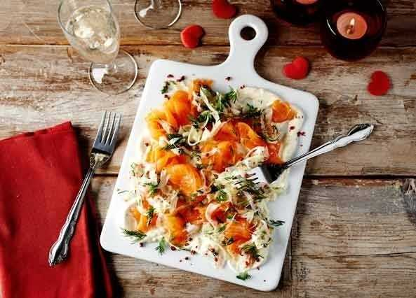 Image: Smoked salmon with fennel pickle