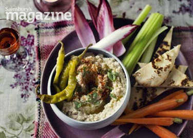 Image: Celeriac and hazelnut hummus