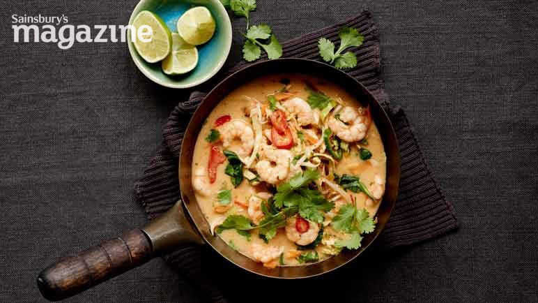 Image: Prawn and coconut soup