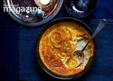 Image: Self-saucing candied lemon pudding