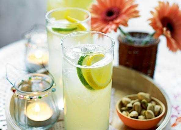 Image: Lime, lemon and ginger refresher