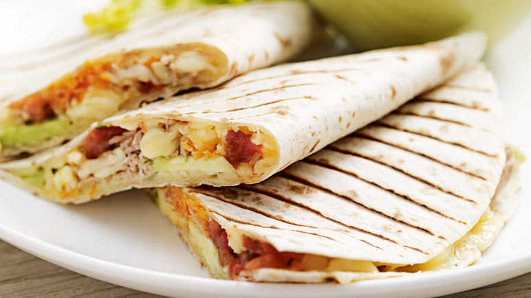 Image: Tuna quesadillas
