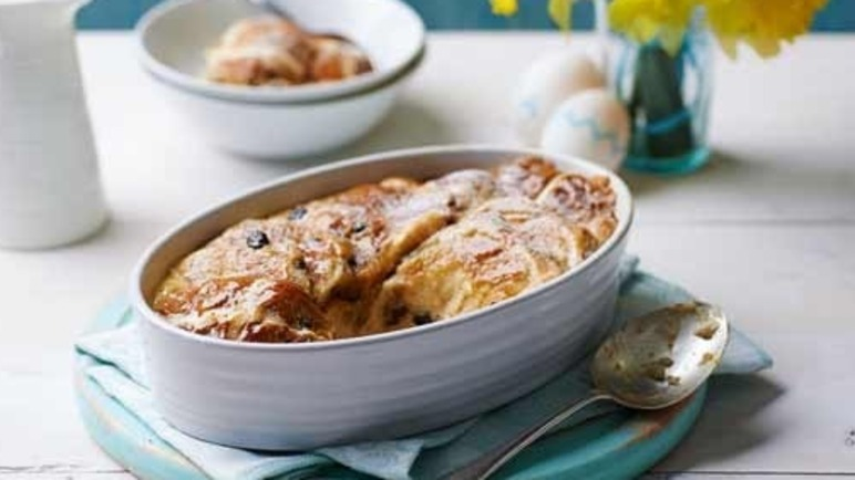Image: Bun and butter pudding