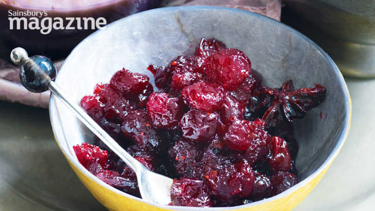 Cranberry and orange compote