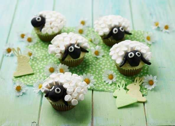 Image: Sheep cupcakes