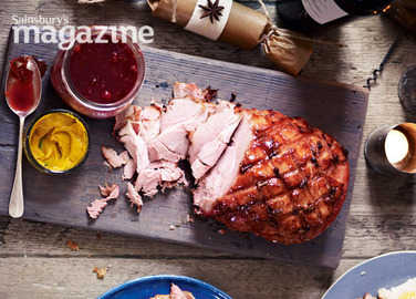 Spiced gammon cooked in cider