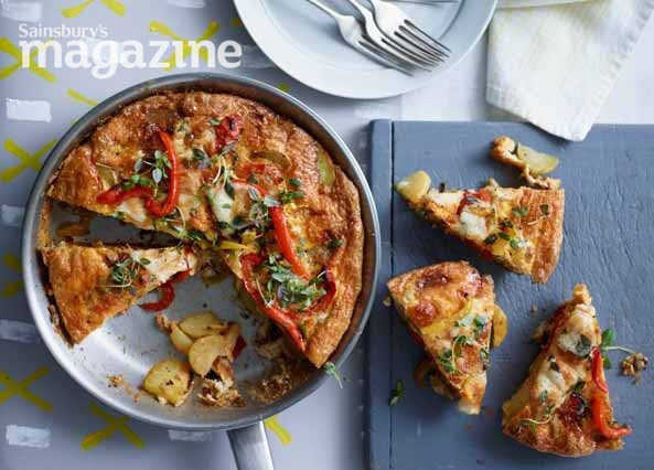 Image: Smoky pepper and onion frittata with manchego
