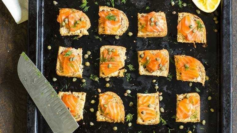 Image: Vanilla infused salmon fillets