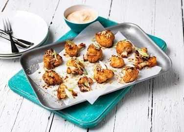 Image: Asian style cauliflower wings with a chilli dip