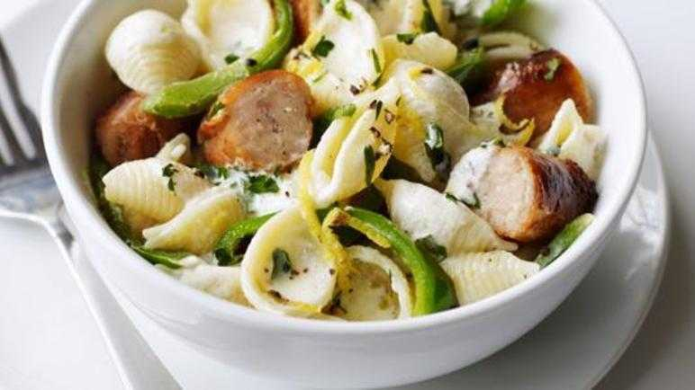 Creamy sausage and lemon pasta