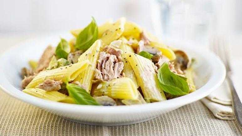 Creamed tuna with pasta