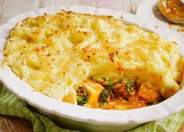 Chicken and potato gratin