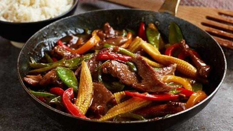 Speedy lamb stir-fry