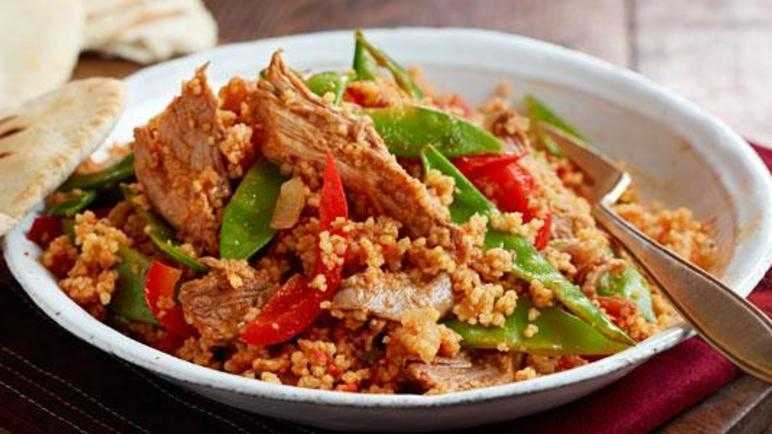 Spicy lamb and harissa couscous