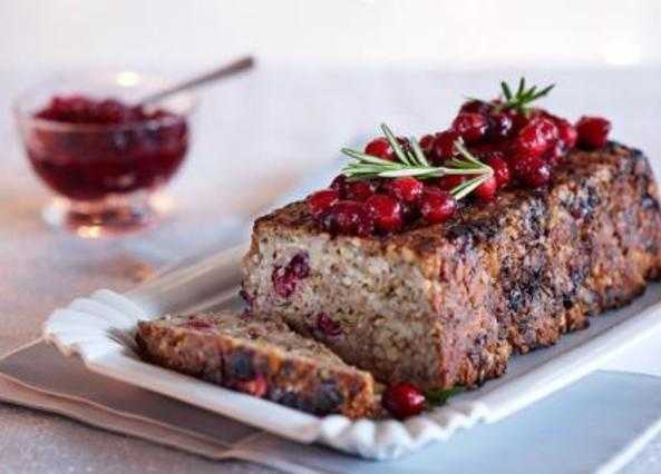 Parsnip and cranberry nut roast