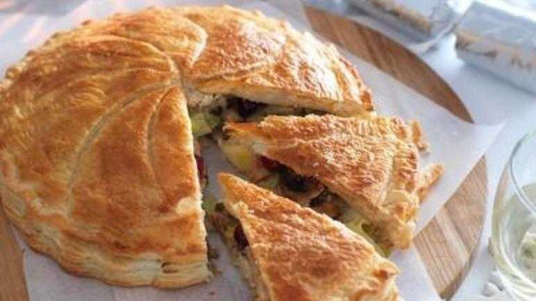 Luxury vegetarian puff pie