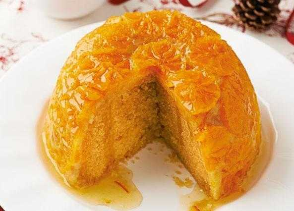 Marmalade and clementine steamed pudding