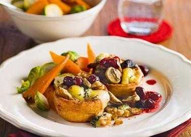 Mushroom and stilton Yorkshires