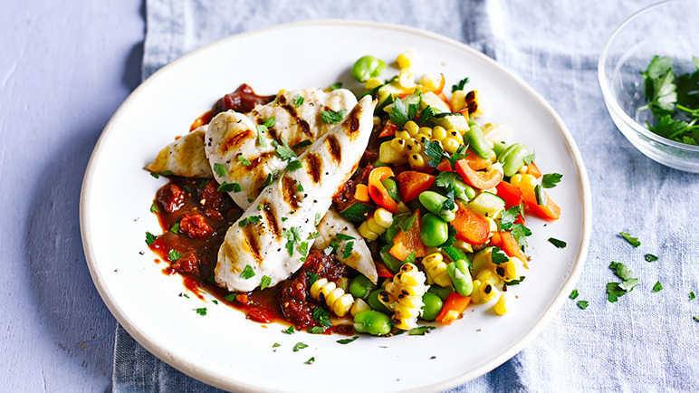Image: Smoke SOUTHERN-STYLE CHICKEN WITH SUCCOTASH